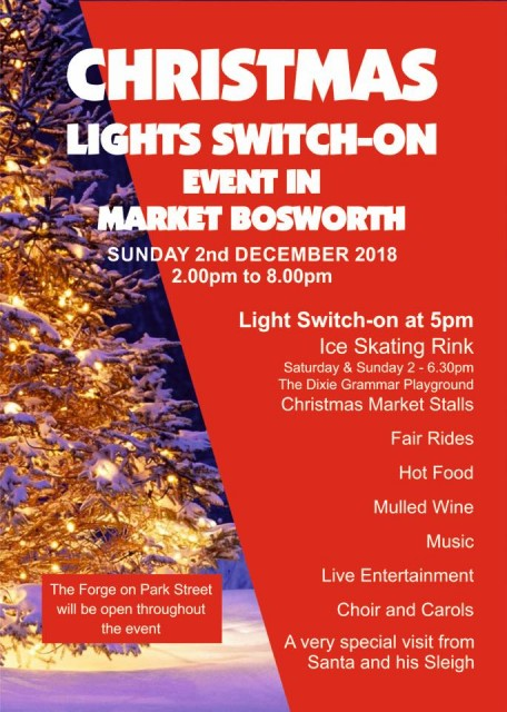 MARKET BOSWORTH CHRISTMAS LIGHT SWITCH SUNDAY 2ND DECEMBER 2018